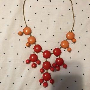 Coral/orange bubble necklace